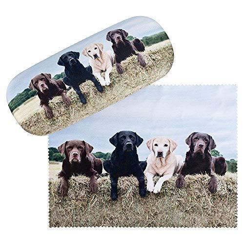 VON LILIENFELD Labrador Retriever Brillenetui Geschenk Motiv Damen Herren Hunde