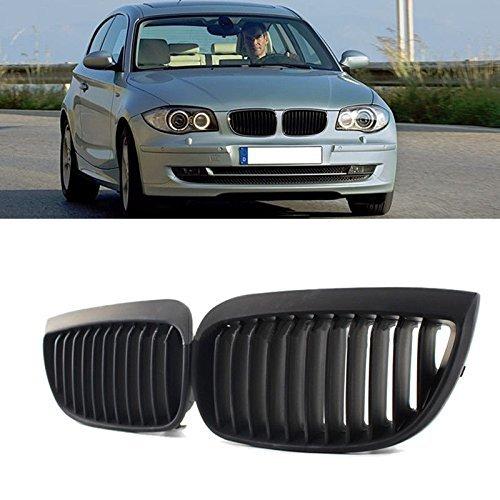 i-Shop Paire de grilles avant Sport pour E81 E87 Série 1 2004–2007 Noir mat
