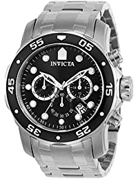 Invicta Pro Diver Men's Chronograph Quartz Watch with Stainless Steel Bracelet – 0069