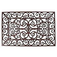 Esschert LH38 46 x 72 x 2cm Small Cast-Iron Doormat Cast Iron - Brown