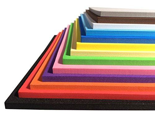 Sixam Extra Gruesa! - Hojas de Espuma para Manualidades - Material EVA - 13 Colores 9.6 × 9.6 Pulgadas - 3 mm / 5 mm / 7 mm de Grosor