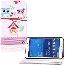 tinxi® PU piel funda para Samsung Galaxy Tab 4 7.0 -7 pulgadas (17,78cm) popular y nuevo con la familia de las lechuzas