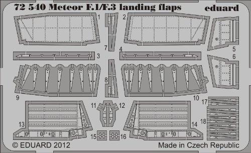 Eduard Photoetch 1:72 - Meteor F.1/F.3 landing flaps (Dragon/ Cyber Hobby)