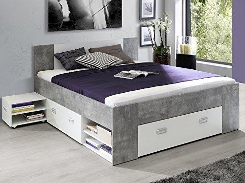 Bett Einzelbett Bettrahmen Kompaktbett Bettanlage Bettgestell 'Belfast I'