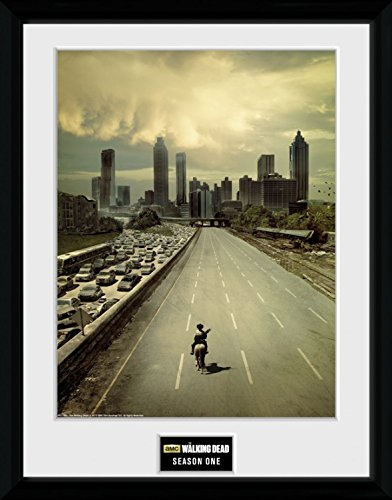 Preisvergleich Produktbild 1art1 100337 The Walking Dead - Season 1 Gerahmtes Poster Für Fans Und Sammler 40 x 30 cm