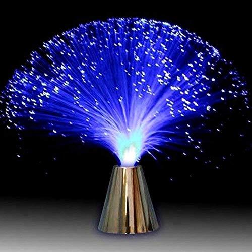 (GEZICHTA LED-Licht, Glasfaser-Optik, batteriebetrieben, LED-Licht, Mehrfarbig für Schlafzimmer, Tischdekoration, Geburtstag, Weihnachten, Halloween, Valentinstag, Abendessen, Party)