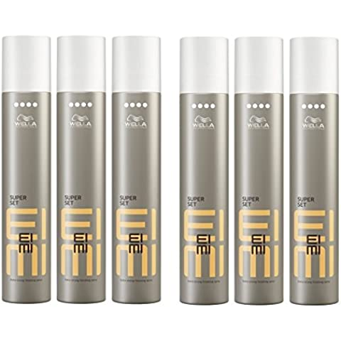 Wella Eimi Super Set capelli Spray Extra Forte 6 x 300 ml Styling Hair Spray Finishing Spray
