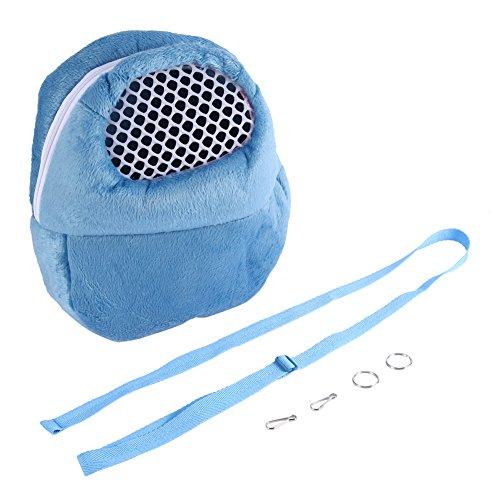 Sac de transport portable pour les Petits Animaux Chien Chat Ecureuil Hamster Lapin (21*25cm 3 couleurs optionnelles )(bleu)