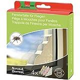 Swissinno 1 463 202 Natural Control 4 Pièges à mouches pour fenêtre