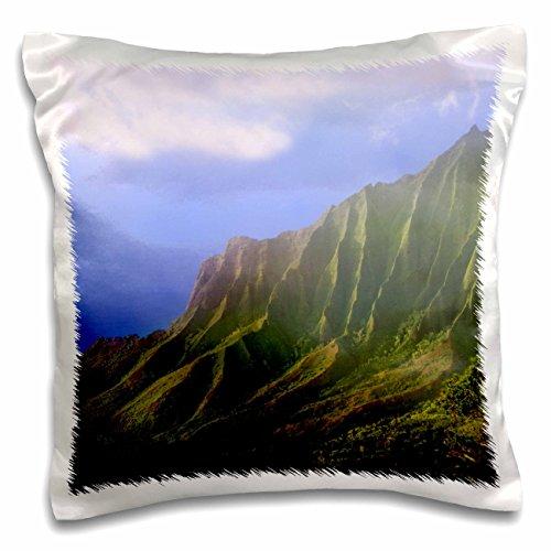 Danita Delimont - Jaynes Gallery - Landscape - USA, Hawaii, Kauai. Landscape of the Na Pali Coas, Kalalau Overlook. - 16x16 inch Pillow Case (pc_190548_1)