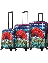 Blue Metallic Mia Toro Italy Alongi Hardside 22 Inch Spinner Luggage