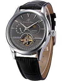 KS KS228 - Reloj , correa de cuero color negro