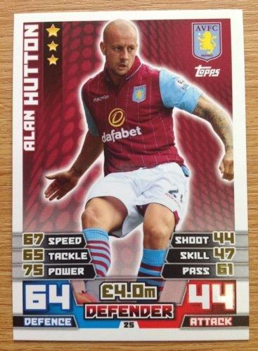 MATCH ATTAX 2014 2015 football card Aston Villa ALAN HUTTON Defender