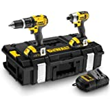 DeWalt 18V Lithium-Ion Combi Drill and Impact Driver with Batteries (Twin Pack)