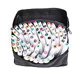 80 Farbige Stift Fettige Mark Farben Marker Set,Twin Tip Textmarker Graffiti Pens für Studenten Manga Kunstler Sketch Marker Stifte Set Mit (weißen)