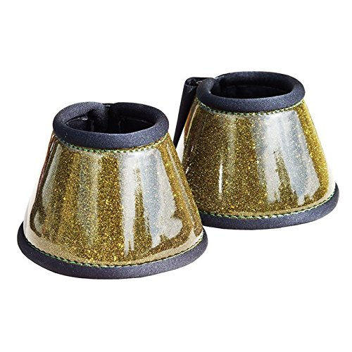 Gr Hufglocken Neoprenglocken mit Glitter, Gold, Minishetty