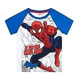 Spiderman Tshirt, blau-weiß, Gr. 104-140 Größe 128