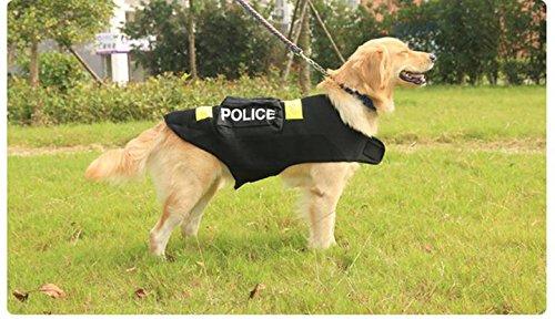 Imagen de omgo ropa para perro grande policía disfraz chaleco chaqueta de verano perro gato estampado fluorescente 3tamaños alternativa