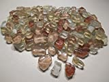 Mosaiksteine Bruchglas Mosaik 1000g Beige Rosa Crashglas 8mm lose Steine zum Basteln