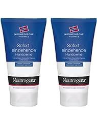 Neutrogena Norwegische Formel Sofort Einziehende Handcreme, 2er Pack (2 x 75 ml)