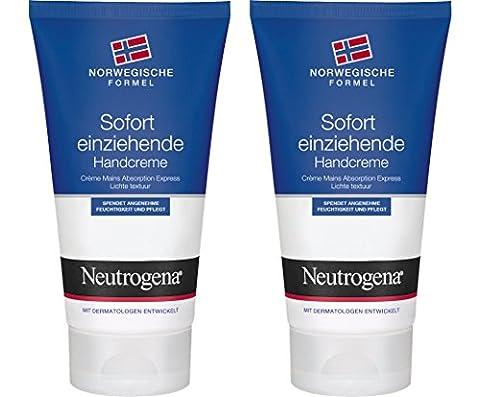 Neutrogena Norwegische Formel Sofort Einziehende Handcreme, 2er Pack (2 x