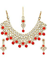 9aaa3fed0476c6 Mansiyaorange Gold Plated AAA Grade Latest Kundan Jewellery Necklace Sets  for Women(AAA Appache Kundan