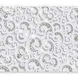 murando - Fototapete 3D Effekt 350x256 cm - Vlies Tapete - Moderne Wanddeko - Design Tapete - Wandtapete - Wand Dekoration - Ornament weiß grau f-C-0218-a-a