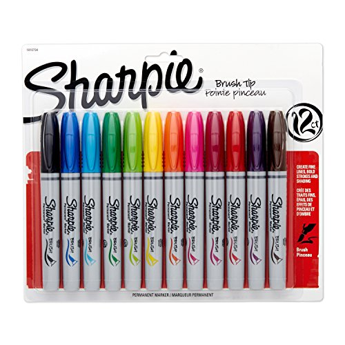 sharpie-brush-tip-permanent-markers-12-pkg-assorted-colors