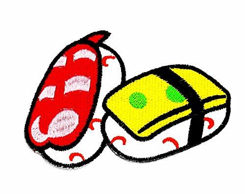 rabana Sushi Essen Fisch Nori Reis Japan Cartoon Kids Kinder Cute Animal Patch für Heimwerker-Applikation Eisen auf Patch T Shirt Patch Sew Iron on gesticktes Badge Schild (Kostüme Diy Essen)