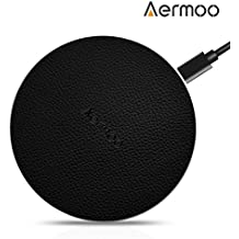 Cargador Inalámbrico, Aermoo W2 Cargador Telefonos Inalambricos Rápido 10W para Samsung Galaxy S8, S8 Plus, Note 8 y Teléfonos Qi-enabled, Cargador Wireless 5W para iPhone8/8Plus,iPhone X