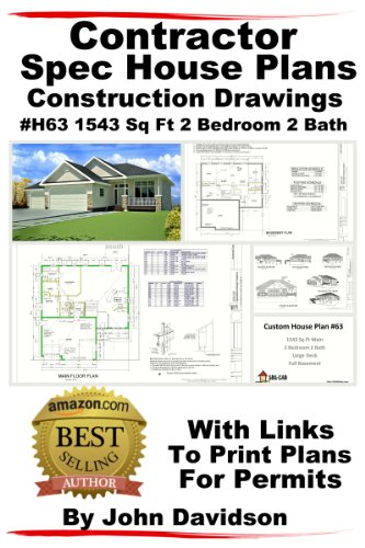 Sq Ft-system (Contractor Spec House Plans Blueprints Construction Drawings #H63 1543 Sq Ft 2 Bedroom 2 Bath (English Edition))
