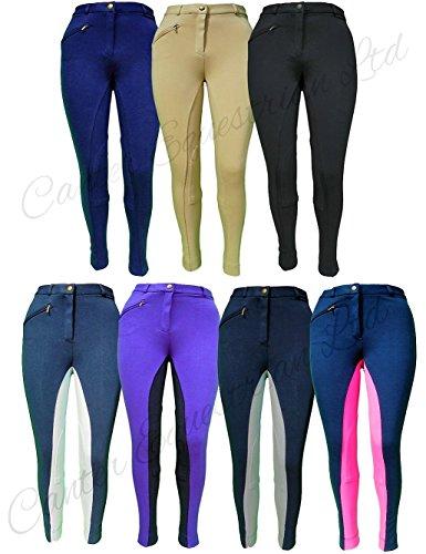 """Pantalones de equitación de calidad para señoras, color beige, tamaño 26"""" Size 10 LADIES"""
