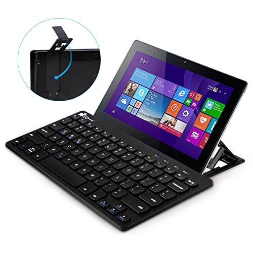 51KrkxUSX L - NO.1 BETTING EC Technology Multi-Device Bluetooth Keyboard Ultra-Slim Universal Wireless Portable Keyboard for Android Windows iOS PC Tablet Smartphone with Stand- Black