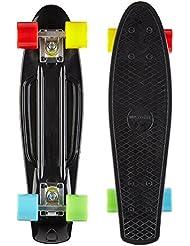Maxofit ® retro skateboard mini cruiser  Colorado, 55 cm avec roulements à billes ABEC 9, excellentes finitions