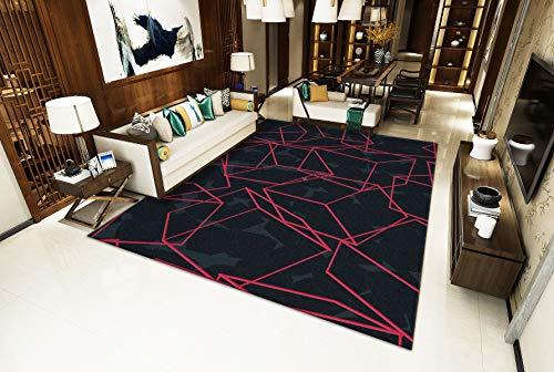 Schwarzer Hintergrund Red Obscure Wohnzimmer Teppich Winter Isolierung S - XXXL Modern Mehrzweck Bodenmatte,Black,90x140cm