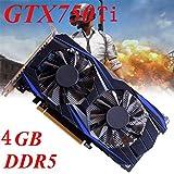 Carte graphique, je n'ai pas besoin, GTX750Ti graphiques 2G / 4G GTX750 graphiques 1G / 2G 128 bits DDR5, VGA DVI HDMI graphiques pour , jeux, vidéo (GTX750Ti 4GB)