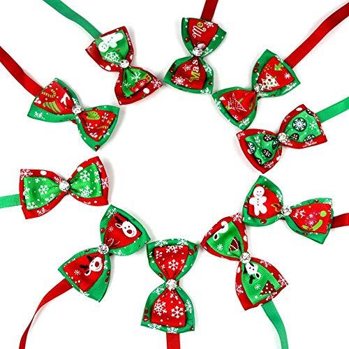 FOONEE Cucciolo di Cane Gatto Bow Ties Bowties Collare, Cute Dog Pet Hair Accessories for Christmas Festival Cat Dog Fascette Dog Grooming Accessori (Pezzi)