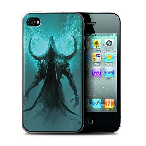 Offiziell Chris Cold Hülle / Case für Apple iPhone 4/4S / Pack 10pcs Muster / Dunkle Kunst Dämon Kollektion Getarnte Teufel