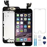 AceScreen pour iPhone 6 Écran de Remplacement Noir 4,7 LCD Retina Display 3D Tactile Digitizer Complet Kit, avec Capteur de Proximité, Parleur, Front Camera, Protecteurd'écran, D'outils