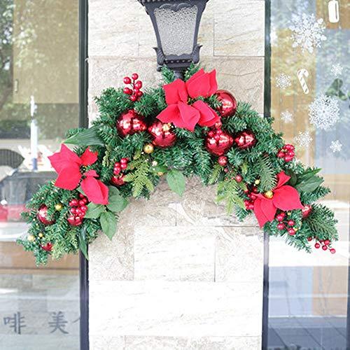 YWYU Noël Européen Lumineux Rotin Mur Tenture Guirlande De Noël Décorations D'arbres pour Hôtel Centre Commercial Fenêtre en Verre (Taille : A-120cm)
