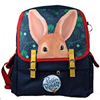 Childrens Kids Peter Rabbit navy blue canvas satchel backpack for holidays,school or nursery