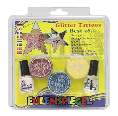 Eulenspiegel 730003 - Glitzer Tattoo - Set Best of XL