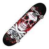 Skateboard Nextrime TRIBE PRO BLOODY SKULL con Teschio Antiscivolo