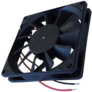 Aerzetix: Gehäuse Lüfter Gehäuselüfter Axial-Lüfter 24V 80x80x15mm 62,86m3/h 34,7dBA 3000rpm 2.38W 0.099A 2 kabel 24AWG C14580