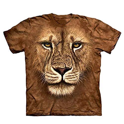 Fenverk Herren Unterhemd Tank 3D Top Classic Mens Short Sleeve Premium Ring Spun T-Shirt Tee Basic Rundhals Slim Fit(Braun-02,XXL) (Farbe Kleid Socken Herren)
