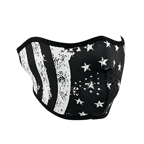 ZANheadgear Neopren Gesichtsmaske fuer Motorrad, Quad, Ski, Snowboard, Paintball USA STARS & STRIPES WNFM091H -