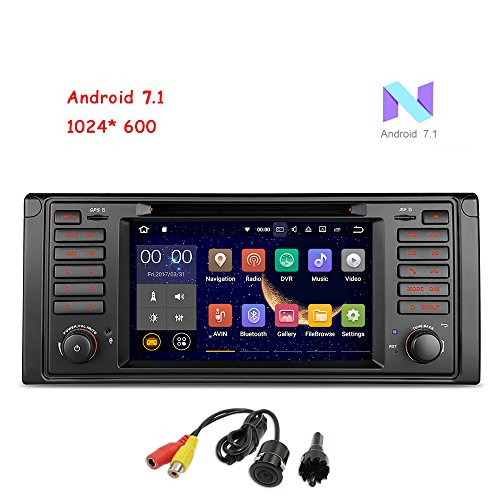 freeauto Android 7.1Auto Stereo für BMW E53gerade Winkel Auto Radio Audio 17,8cm Quad Core GPS DVD-Player Multi-Touchscreen Radio GPS 1080P Video Screen Mirroring OBD2WIFI Rear View Kamera (Bmw-auto-stereo-system)