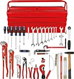 KS Tools 116.0186 Sanitär-Basic Werkzeug-Satz, in Metallkiste, 34-tlg.