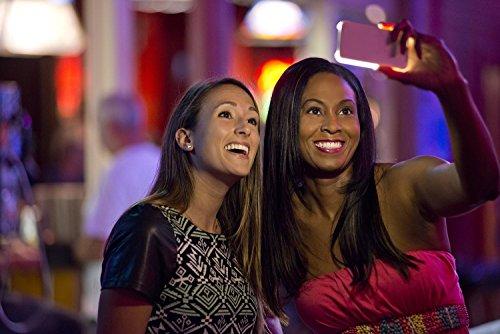 Caso selfie Luce iPhone, RIOGOO caso selfie telefono con FaceTime - illuminato telefono cellulare Custodia per iPhone 6/6s - Bianca Nero
