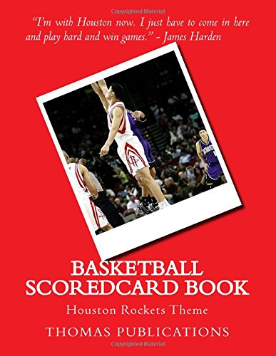 Basketball Scoredcard Book: Houston Rockets Theme